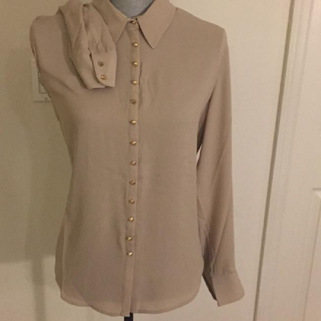 Vince Camuto Snaps Studded Studs Button Down Longsleeve Top Oyster Image 5