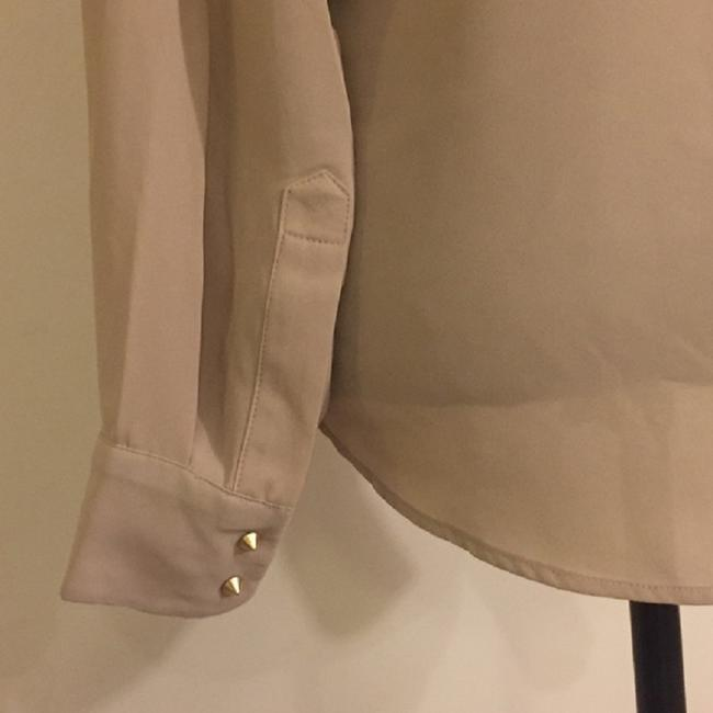 Vince Camuto Snaps Studded Studs Button Down Longsleeve Top Oyster Image 6