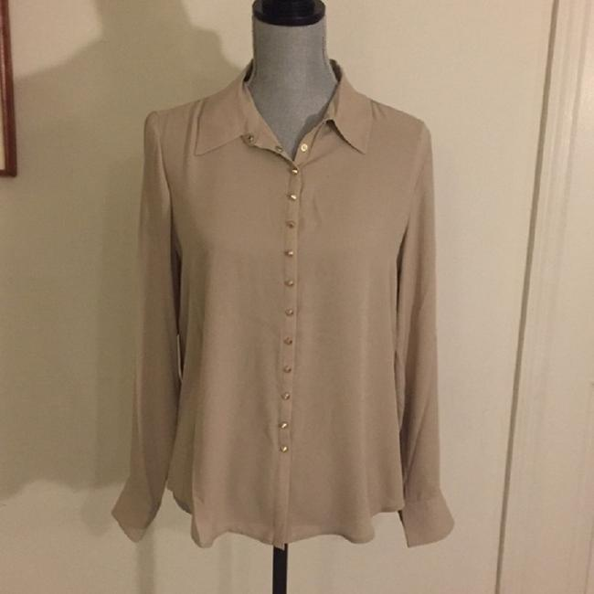 Vince Camuto Snaps Studded Studs Button Down Longsleeve Top Oyster Image 7