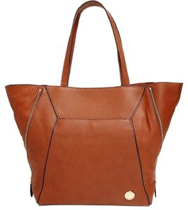 Vince Camuto Leather Pebbled Tote in MOCHA BISQUE