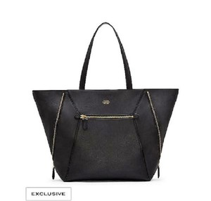 Vince Camuto Leather Pebbled Tote in BLACK
