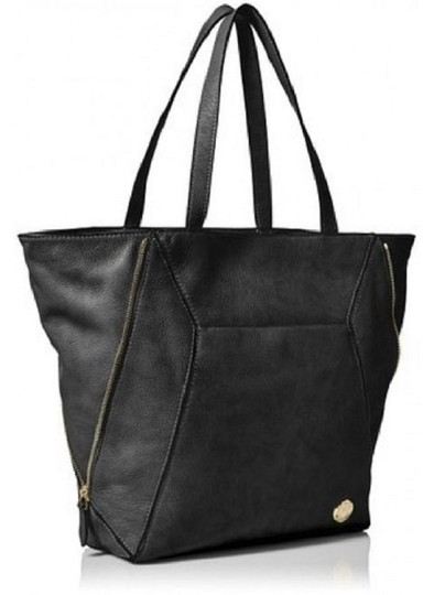 VINCE CAMUTO Leather Pebbled Tote in BLACK Image 1