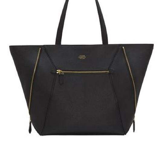 VINCE CAMUTO Leather Pebbled Tote in BLACK Image 3