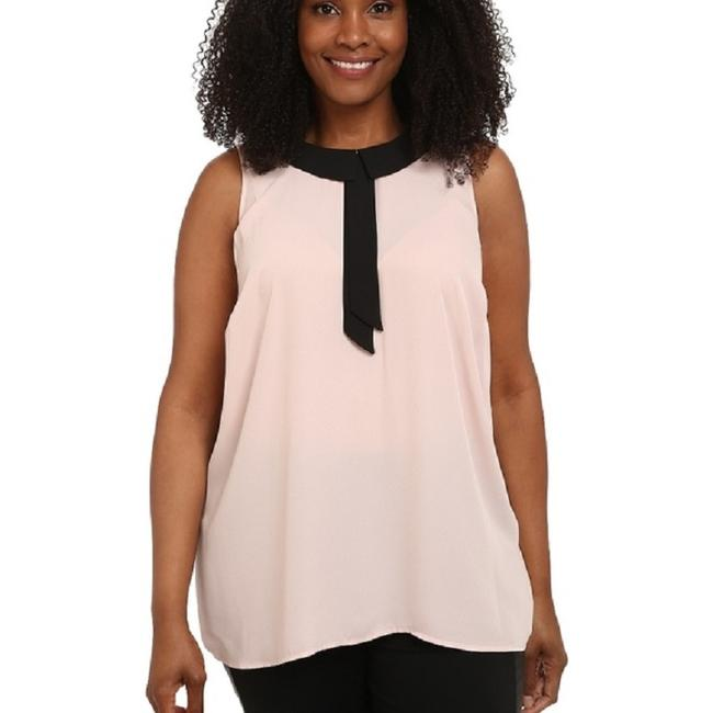 Vince Camuto Sleeveless Keyhole Flowy Top Pink / Black Image 1