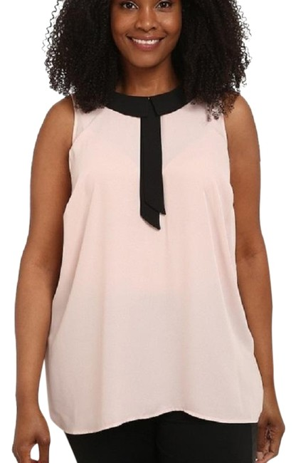 Preload https://img-static.tradesy.com/item/23301461/vince-camuto-pink-black-collared-sleeveless-3x-blouse-size-26-plus-3x-0-1-650-650.jpg