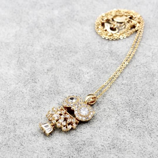 Ocean Fashion Gold Owl Crystal Necklace Image 5