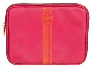 Tory Burch Tory Burch Hot Pink Leather Tablet Case
