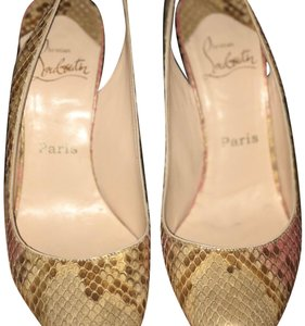 Christian Louboutin gold with light pink Formal