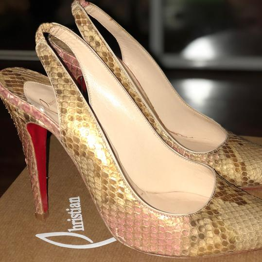 Christian Louboutin gold with light pink Formal Image 1
