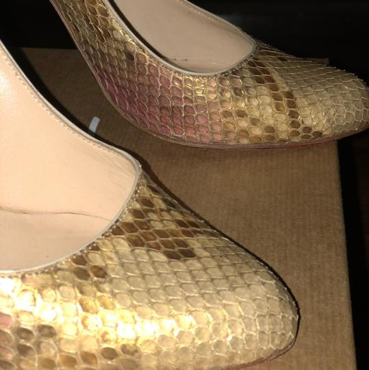 Christian Louboutin gold with light pink Formal Image 2