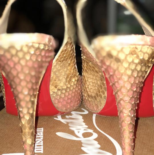 Christian Louboutin gold with light pink Formal Image 3