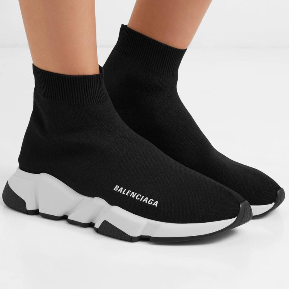 900e94d5eb5 Balenciaga Speed Trainer Stretch Knit High Top Sock Sneakers ...