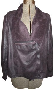 Kate & Mallory Faux Leather Faux Suede Stretchy brown Jacket