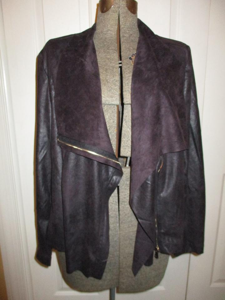 208e8cb588b Kate   Mallory Brown Faux Leather Jacket Size 20 (Plus 1x) - Tradesy