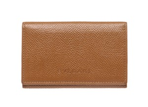 BVLGARI Bvlgari Tan Leather Small Coin Pouch Wallet