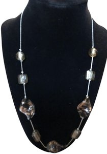 Fashion Bug Beautiful Natural smooth Stone Necklace