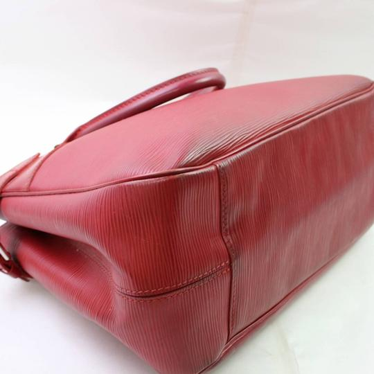 Louis Vuitton Neverfull Bowler Montaigne Speedy Satchel in Red Image 7