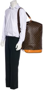 Louis Vuitton Carryall Steam Bandouliere Extra Large Duffle Wristlet in Brown