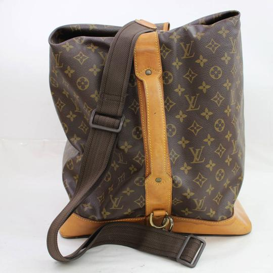Louis Vuitton Carryall Steam Bandouliere Extra Large Duffle Wristlet in Brown Image 10
