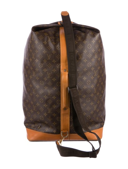 Louis Vuitton Carryall Steam Bandouliere Extra Large Duffle Wristlet in Brown Image 6