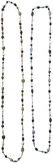 Preload https://img-static.tradesy.com/item/23302060/fashion-bug-brown-and-blue-two-pretty-necklace-0-3-540-540.jpg