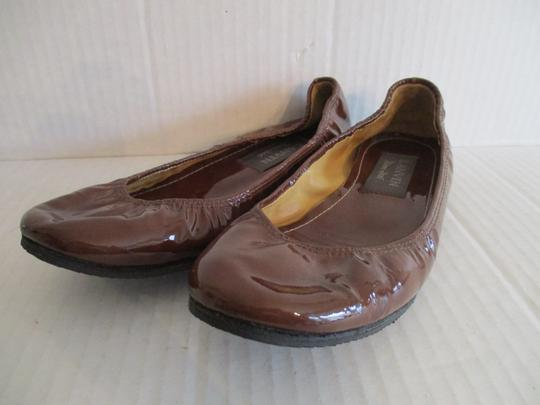 Lanvin Ballerina Patent Elasticized River 2006 Ready To Wear Brown Flats Image 1