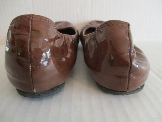 Lanvin Ballerina Patent Elasticized River 2006 Ready To Wear Brown Flats Image 2