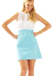 Lilly Pulitzer short dress ocean blue & white on Tradesy