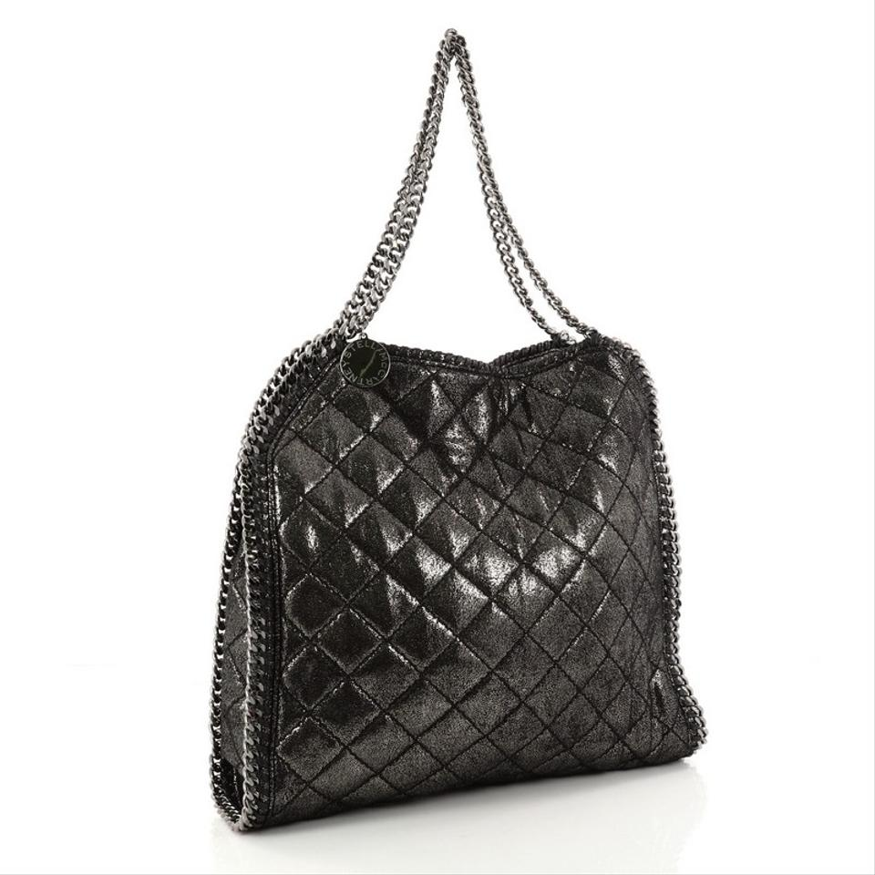 c9754e540e2 ... huge selection of aed3f c15db Stella McCartney Falabella Quilted Shaggy  Deer Small Black M ...