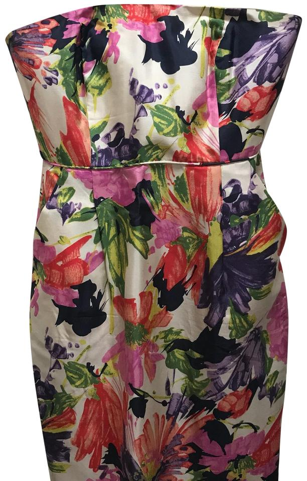 a6ea22dcc38 J.Crew Floral and Cream Strapless Cocktail Dress. Size  4 (S) Length  ...