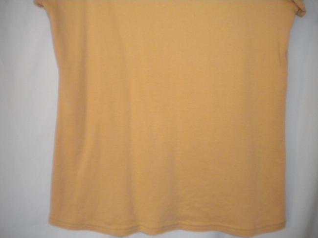 Christopher & Banks Crochet Trim Sleeve T Shirt Soft Peach Image 3