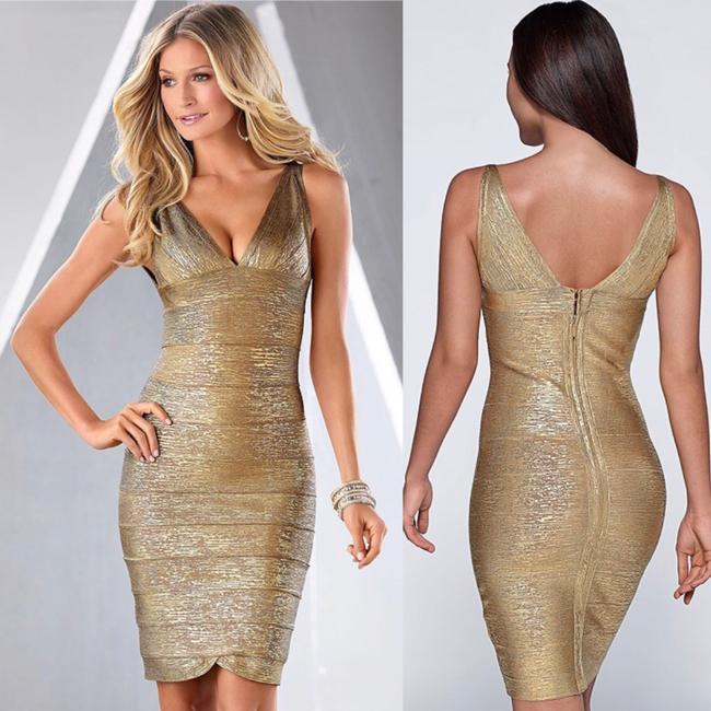 Preload https://img-static.tradesy.com/item/23302307/venus-gold-metallic-slimming-short-formal-dress-size-4-s-0-1-650-650.jpg