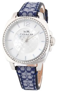 Coach Signature Leather Strap Crystal Dial Boyfriend 14502417