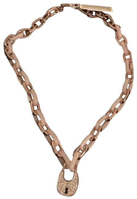 """Item - Rose Gold Multi New Heritage Padlock Gold-tone Chain 19"""" Chain Necklace"""