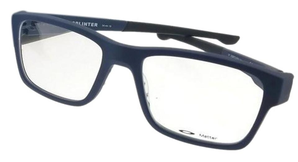 e68f2f46186 Oakley OX8077-07 Splinter Men s Blue Frame Clear Lens 54mm Genuine  Eyeglasses ...