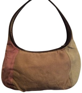 Liz Claiborne Satchel in pale pink, light green and tan
