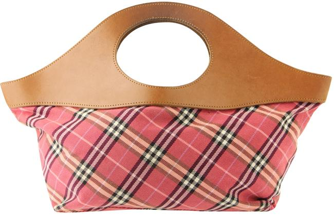 Item - East West Blue Label Check Pink Canvas Tote