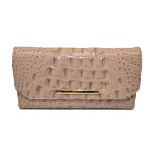 Brahmin Checkbook Wallet Croco Melbourne Silk Clutch