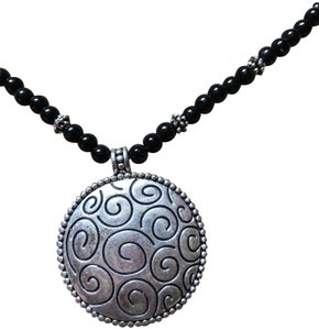 Fashion Bug Silver Medallion Necklace