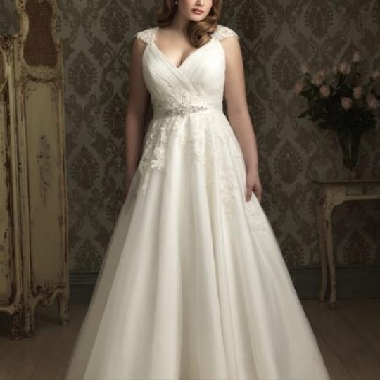 Preload https://img-static.tradesy.com/item/23302907/allure-bridals-ivory-tulle-and-lace-w282-sexy-wedding-dress-size-22-plus-2x-0-2-540-540.jpg