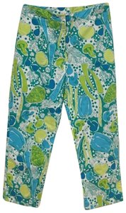 Lilly Pulitzer Capris Blue, Green, White