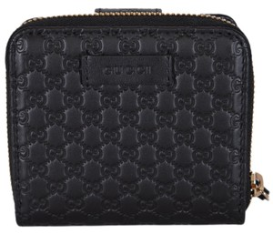 ee29d52cdb85 Gucci New Gucci Women's 449395 Black Leather Micro GG Guccissima Wallet