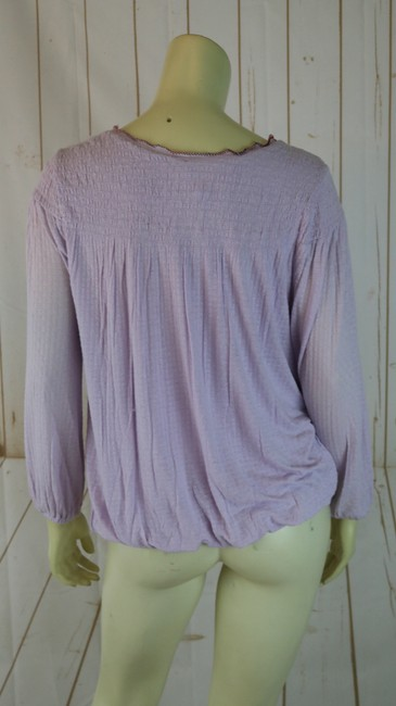 Free People New Boho Embroidery Pullover Top Lilac Image 2