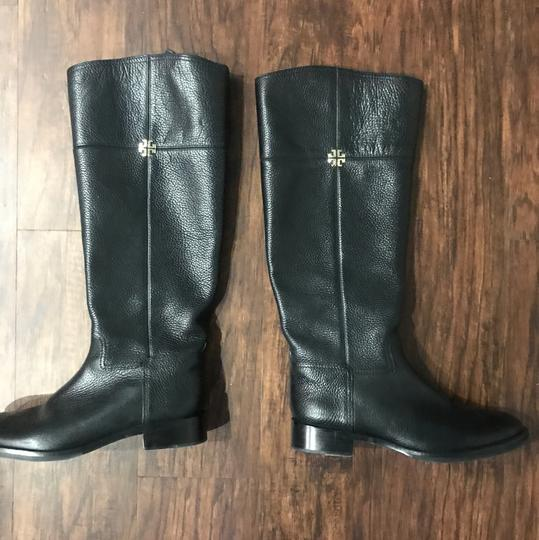 Tory Burch Wide Calf Leather black Boots Image 1