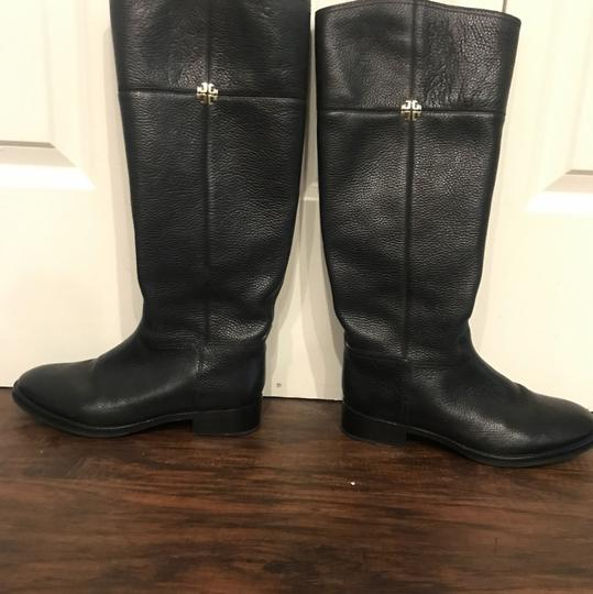 Tory Burch Wide Calf Leather black Boots Image 2
