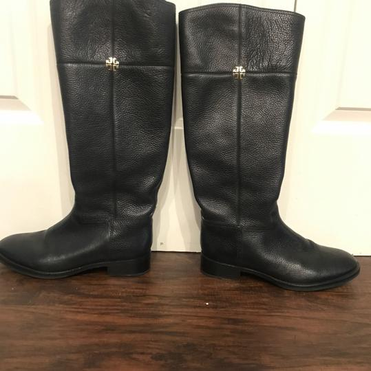Tory Burch Wide Calf Leather black Boots Image 3