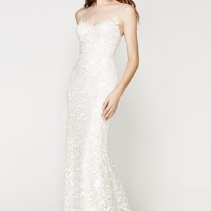 Willowby by Watters Ivory Lace with Almond Lining Marseille Modern Wedding Dress Size 10 (M)