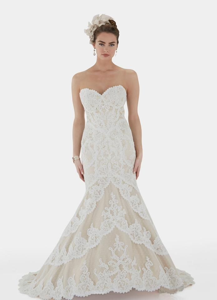 Matthew Christopher Ivory Lace with Satin Corset and Lining Emma ...