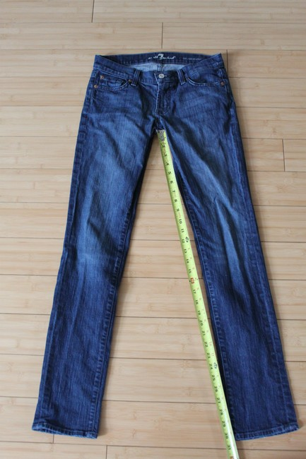 7 For All Mankind Skinny Jeans-Dark Rinse Image 1