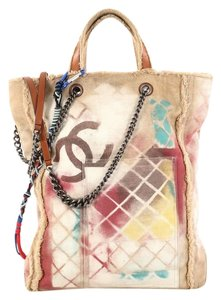 d618a137bdf765 Added to Shopping Bag. Chanel Canvas Tote in beige. Chanel Graffiti Boy Art  School Oh My ...